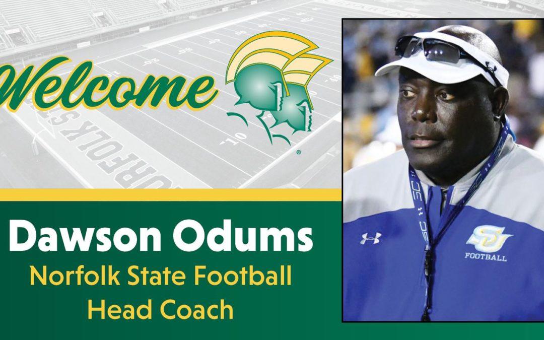 Dawson Odums Named Head Football Coach at Norfolk State