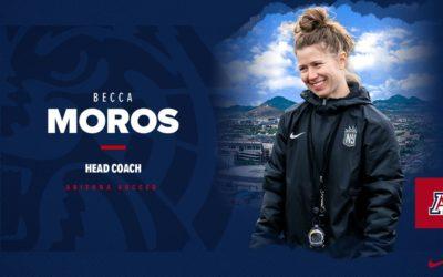 Arizona Hires Becca Moros as new Head Soccer Coach